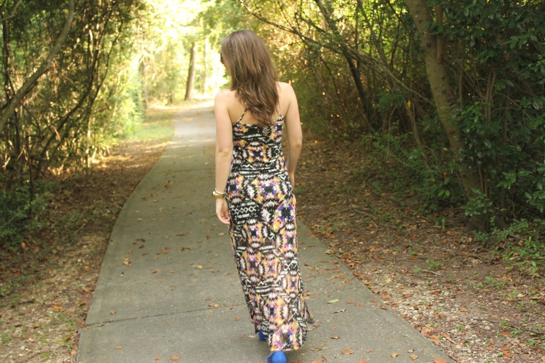 colorful aztec maxi dress | BNB styling