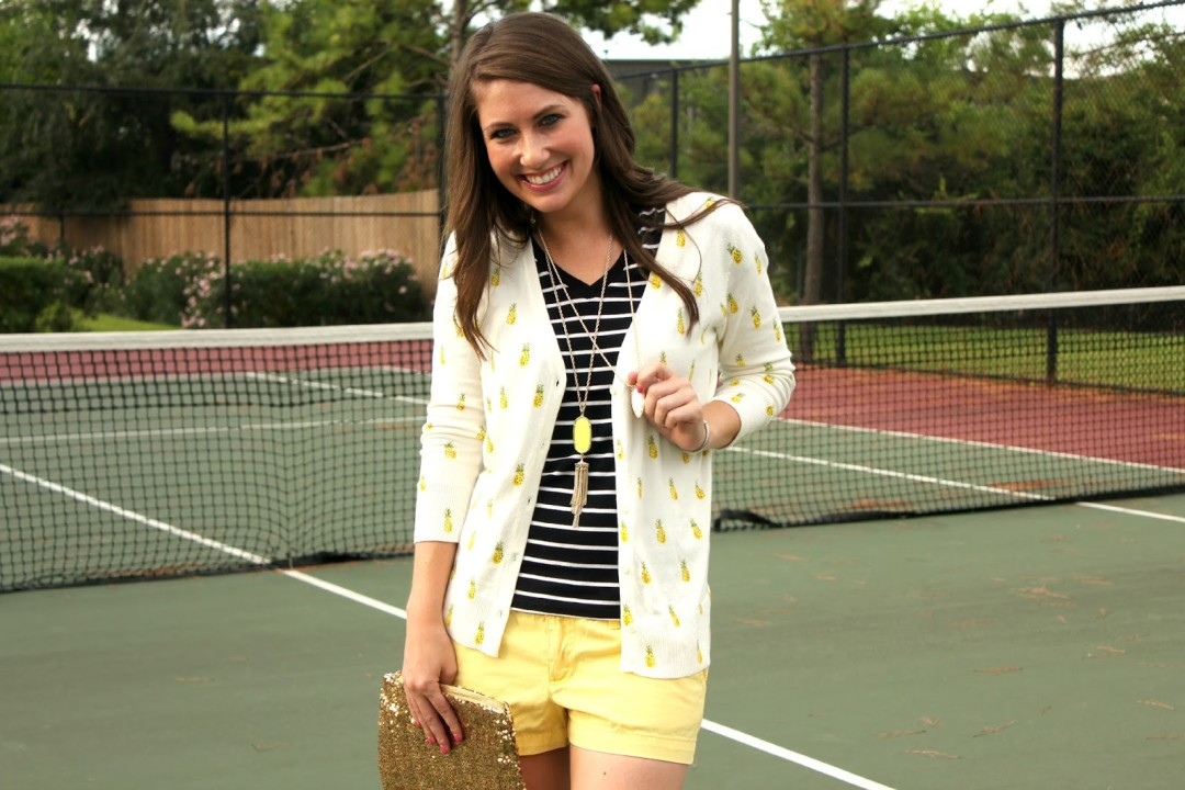 preppy look for spring to watch a tennis match | BNB styling