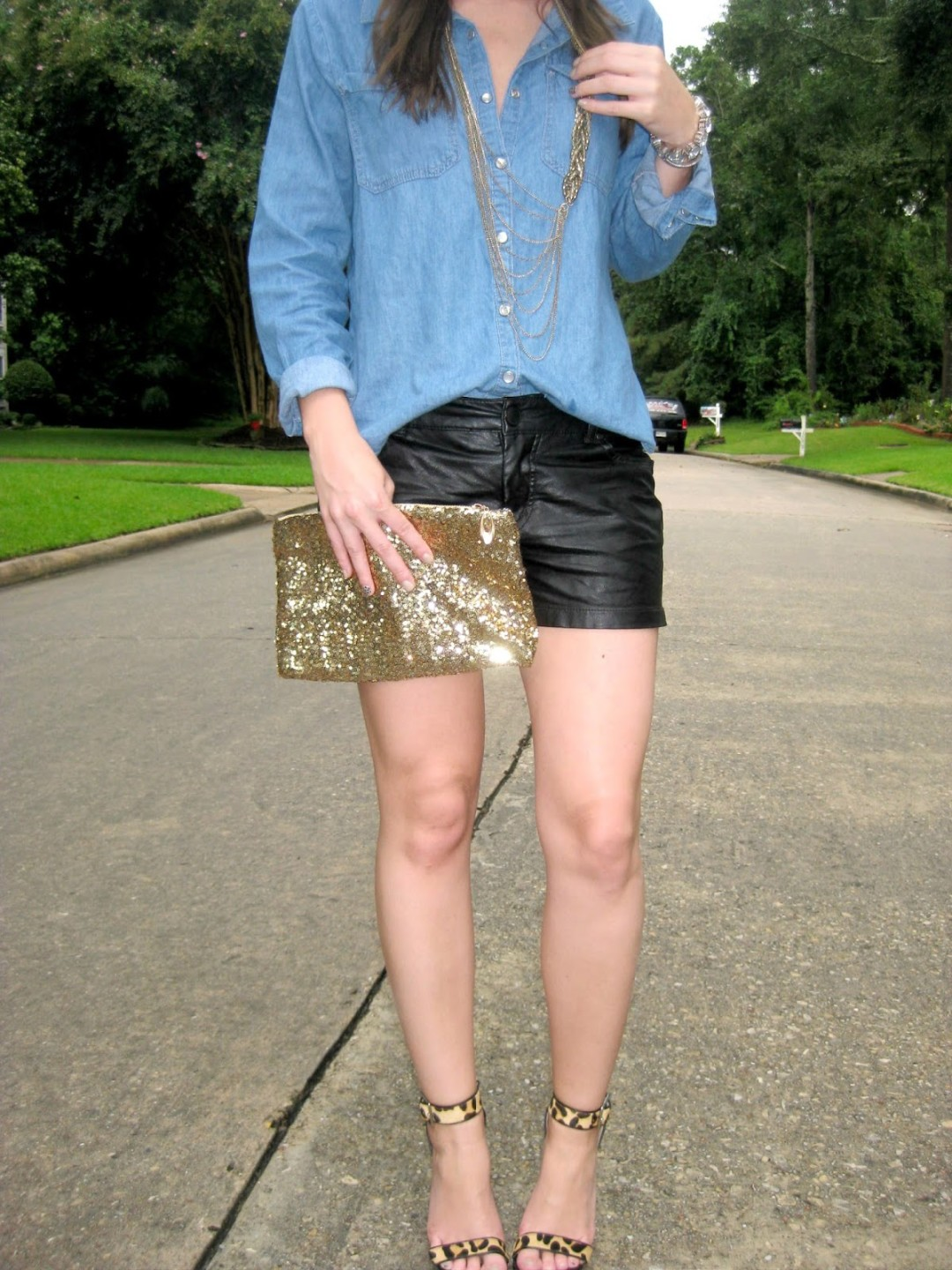 chambray and leather | BNB styling