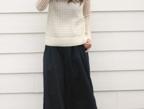 culottes and knits