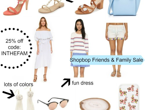 Shopbop Friends & Family Sale with incredible deals all at 25% off | BNBstyling.com