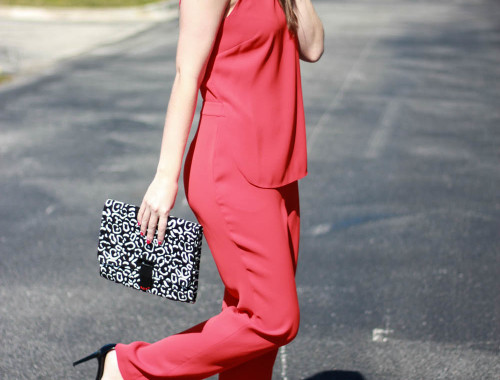 red jumpsuit | BNB styling