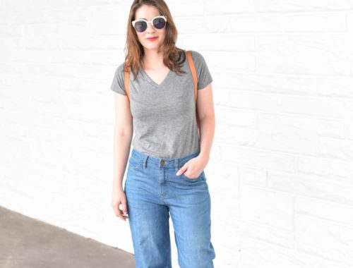 cropped flared denim | BNB styling