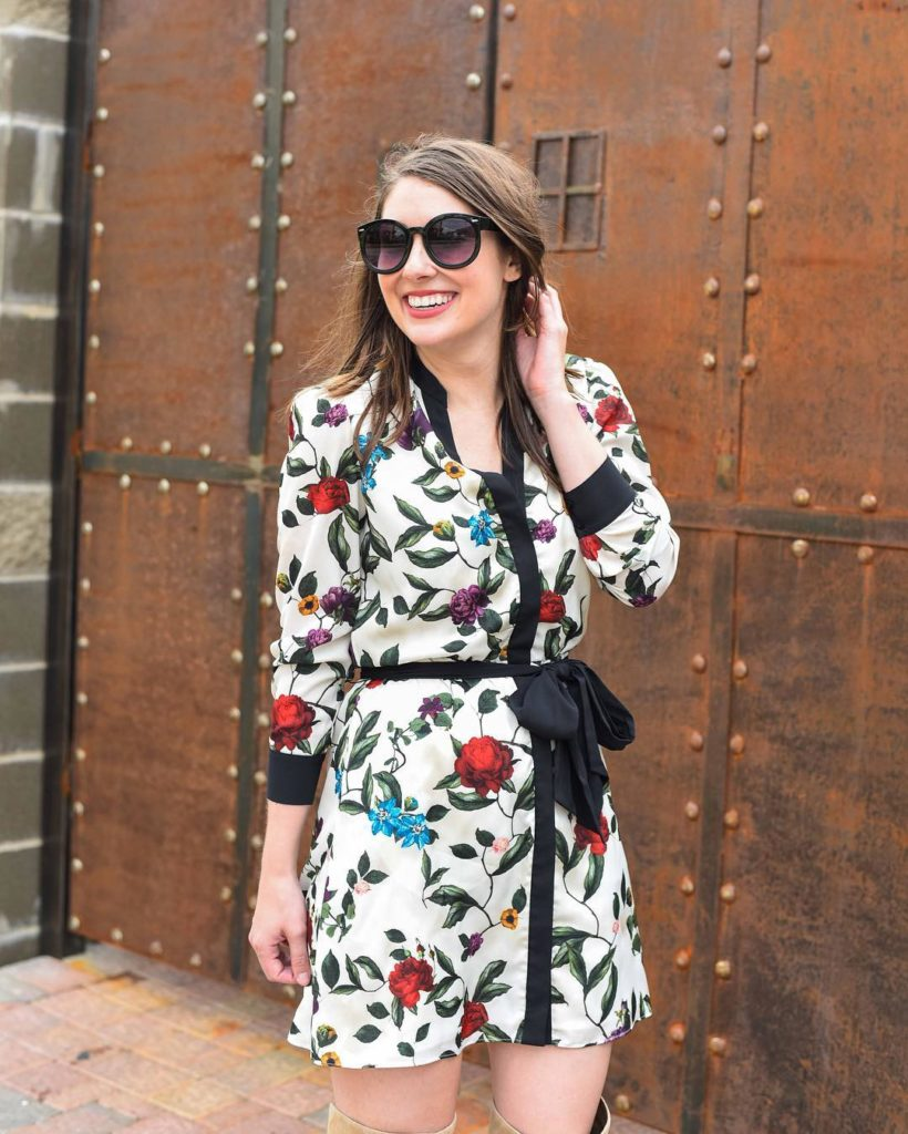 This fall floral outfit will be on the blog inhellip