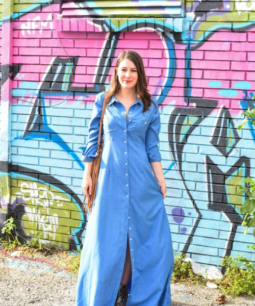 blue duster