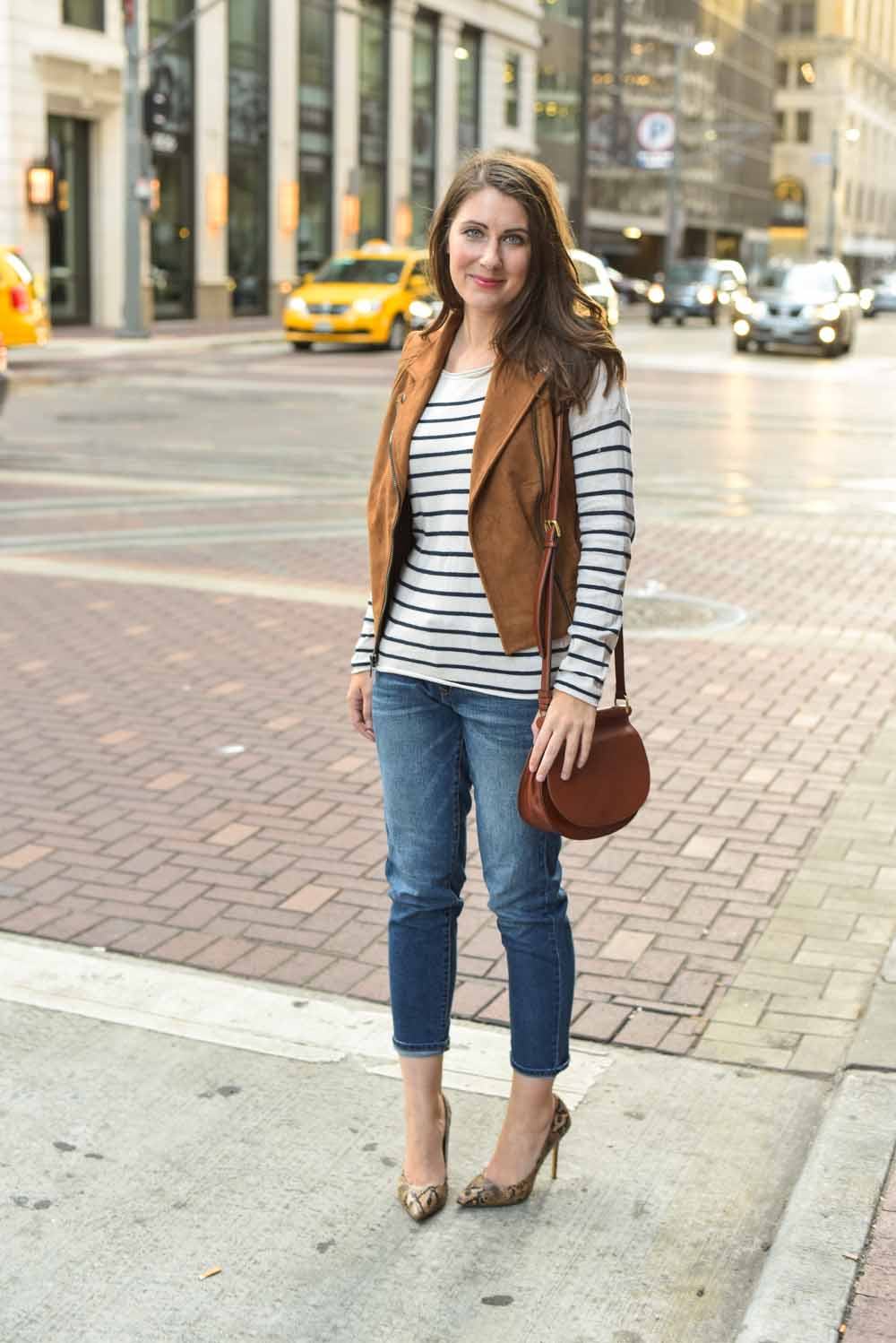 striped city look
