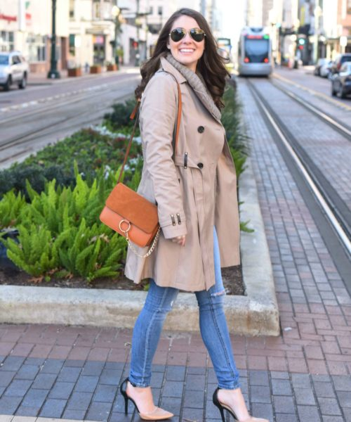 downtown trench look