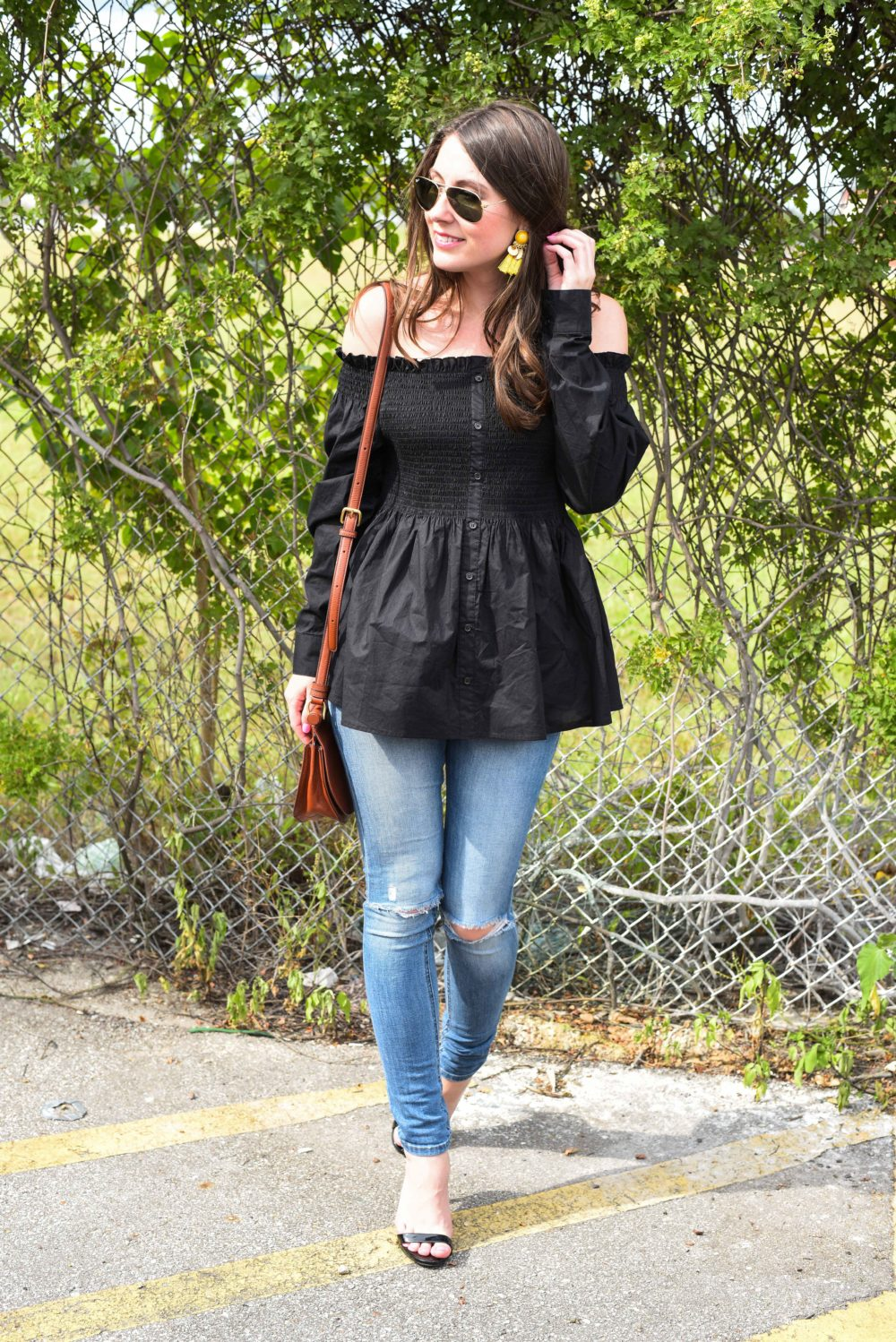 off the shoulder date night look