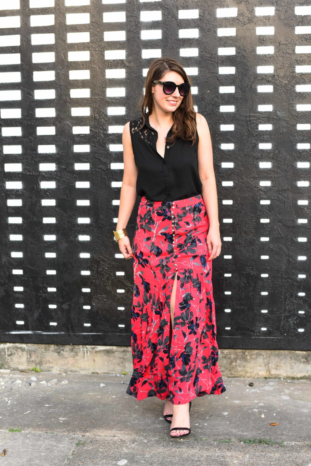Summer Floral Midi Skirt - BNB styling